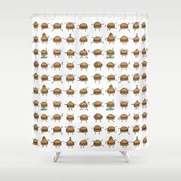 Hooray! Cheeseburgers! Shower Curtain