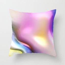 Rainbow Shiny Shapes Throw Pillow