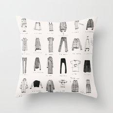 MY WARDROBE Throw Pillow