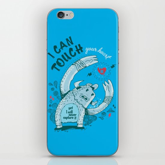 I can touch your heart iPhone & iPod Skin