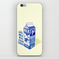 anchorman iPhone & iPod Skins featuring Milk was a Bad Choice ~ Brick Wanted (Anchorman) by Chubbybuddhist
