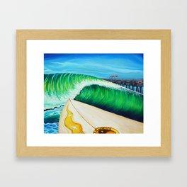 Lake Worth Swell Framed Art Print