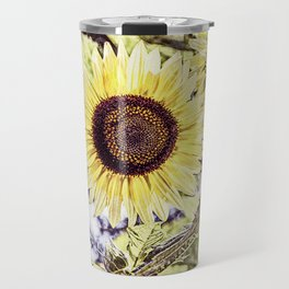 Big Yellow Sunflower Summer Garden Travel Mug