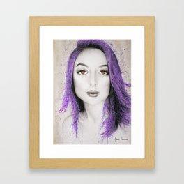 Her Purple Framed Art Print