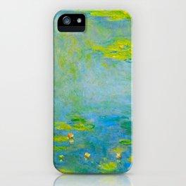 Claude Monet Impressionist Landscape Oil Painting Water Lilies iPhone Case