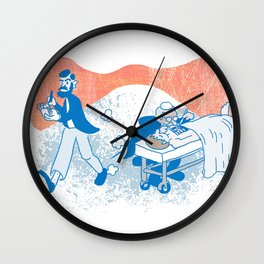 Freud and Halsted Wall Clock