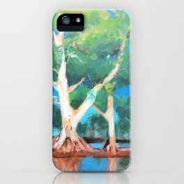 Riverbank Trees iPhone Case