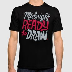 Midnight: Ready to Draw Mens Fitted Tee MEDIUM Black