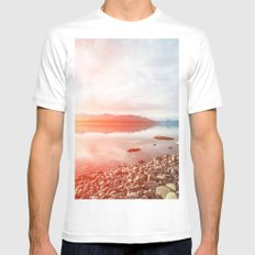 Sunset Landscape #photography MEDIUM Mens Fitted Tee White