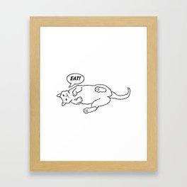Eat! Framed Art Print
