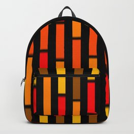 Red Orange and Yellow Backpack
