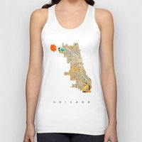 chicago Tank Tops featuring Chicago by Nicksman