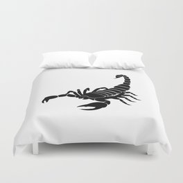 Scorpion Black Duvet Cover
