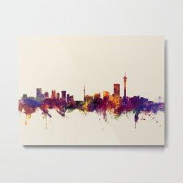 Johannesburg South Africa Skyline Metal Print