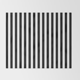 Stripe Black & White Vertical Throw Blanket