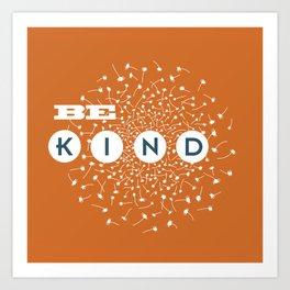 Be Kind (orange/blue) Art Print