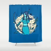 archer Shower Curtains featuring Archer Elf by Thomas Orrow