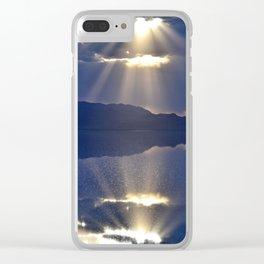 Sun over Salt Flats Clear iPhone Case