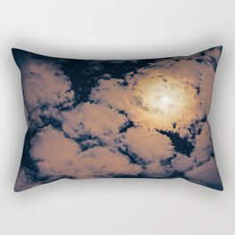 Full moon through purple clouds Rectangular Pillow