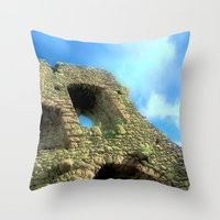 castle in the sky Throw Pillows featuring Castle by Brian Raggatt