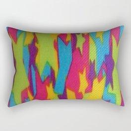 Rainbow Stars Abstract Rectangular Pillow