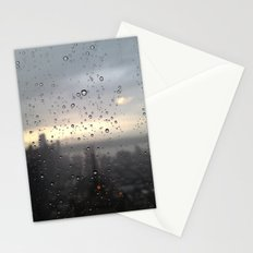 window rain drops Stationery Cards