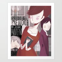 pride and prejudice Art Prints featuring Pride and Prejudice by Nan Lawson