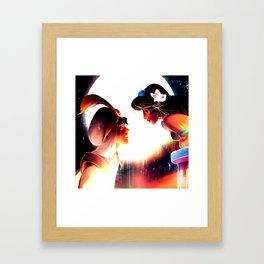 jasmine and aladdin Framed Art Print