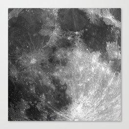 Black & White Moon Canvas Print