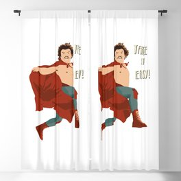 Take It Easy, El Luchador Mascarado Artwork Blackout Curtain
