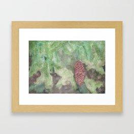 Spruce Cone Framed Art Print