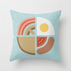 Breakfast Time (clock #29) Throw Pillow