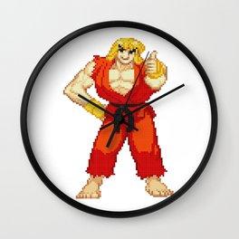 Ken Masters Thumb Up Pixel Art Wall Clock