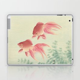 Goldfish Vintage Japanese Woodblock Print Laptop & iPad Skin
