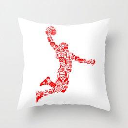 Basketball RED Throw Pillow