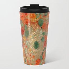 Nasturtiums Flower Painting - Odilon Redon, 1905 Travel Mug