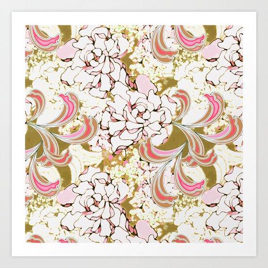 Gardenia Daydream Art Print