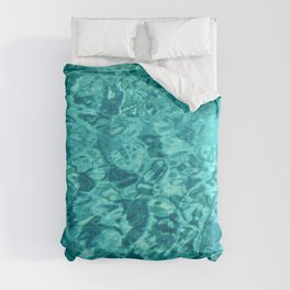 Turquoise Blue Water Texture Comforters