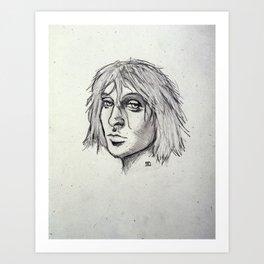 Cobain of the Rocks Art Print