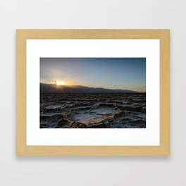 DEATH VALLEY SUNSET PHOTO -  CALIFORNIA IMAGE - NATIONAL PARK  PICTURE - LANDSCAPE PHOTOGRAPHY Framed Art Print