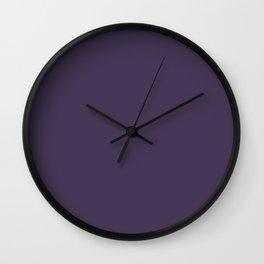 poupre solid Wall Clock