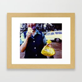 Hawaii Ice Cream Framed Art Print
