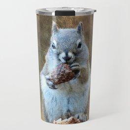 Squirrel with a Pine Cone Travel Mug