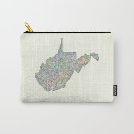 West Virginia map Carry-All Pouch
