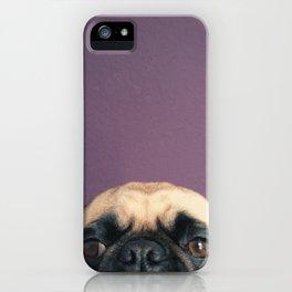 Lurking Pug iPhone Case
