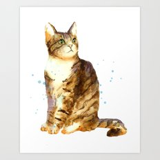 Cute Tabby Cat Art Print