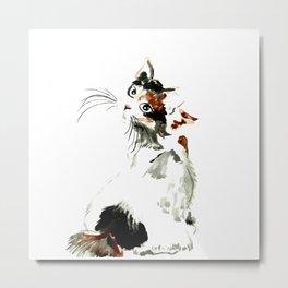 Bobtail cat Metal Print