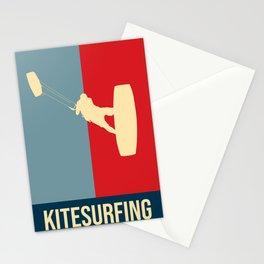 Kitesurfing Retro Design Stationery Cards
