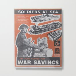 Reprint of British wartime poster. Metal Print
