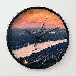THE RHINE 10 Wall Clock